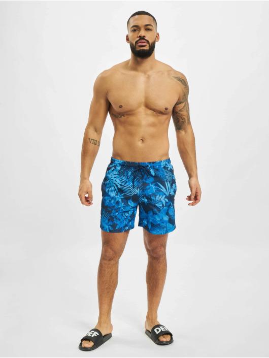 Urban Classics Kąpielówki Pattern  Swim Trunks niebieski