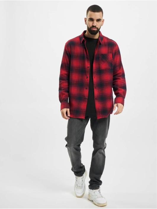 Urban Classics Kauluspaidat Oversized Checked Grunge punainen