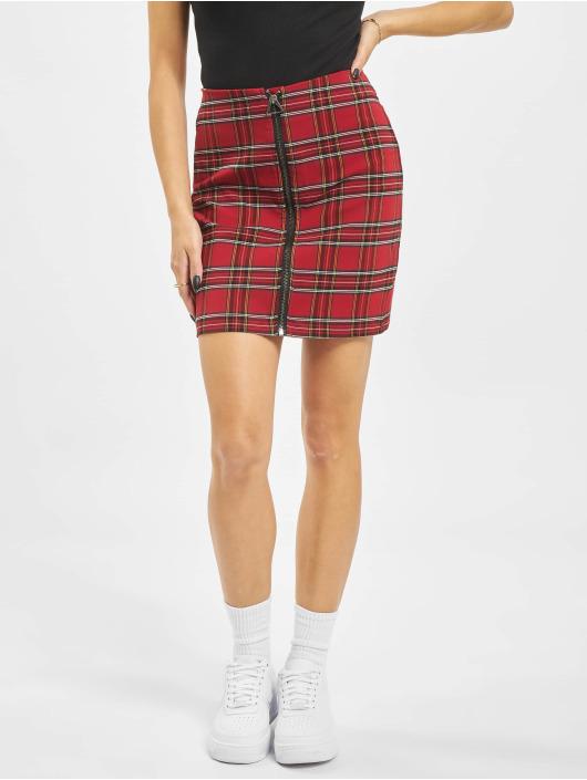 Urban Classics Kjol Checker röd