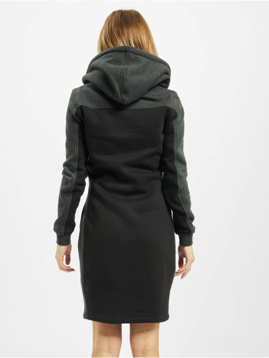 Urban Classics Kjoler Ladies 2-Tone Hooded sort