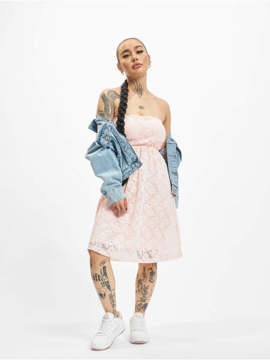 Urban Classics Klänning Laces ros