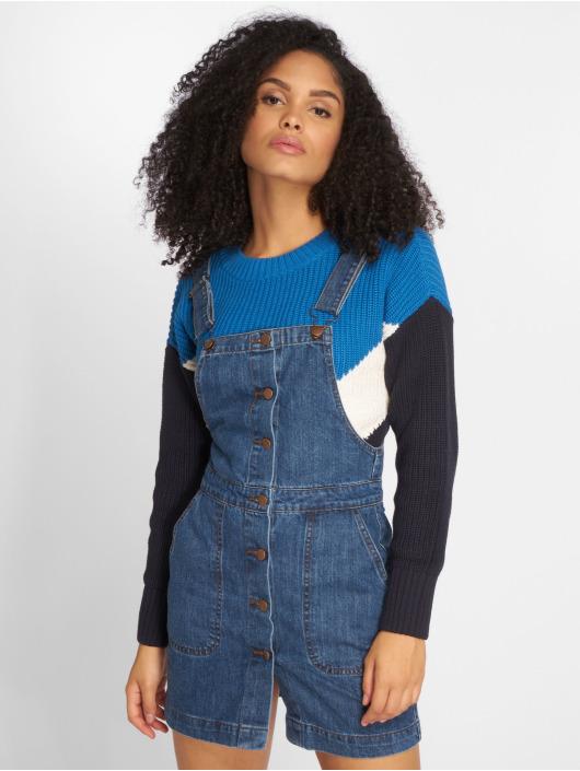 Urban Classics Kleid Denim Dungarees blau