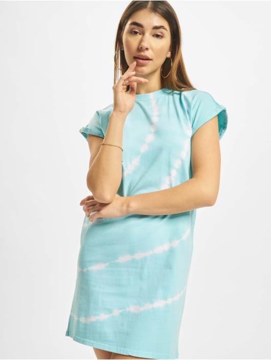 Urban Classics Kleid Tie Dye blau