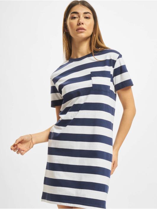 Urban Classics Kleid Stripe Boxy blau