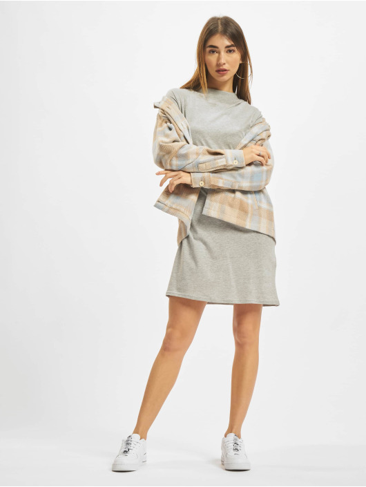 Urban Classics Kleid Turtle Extended Shoulder grau
