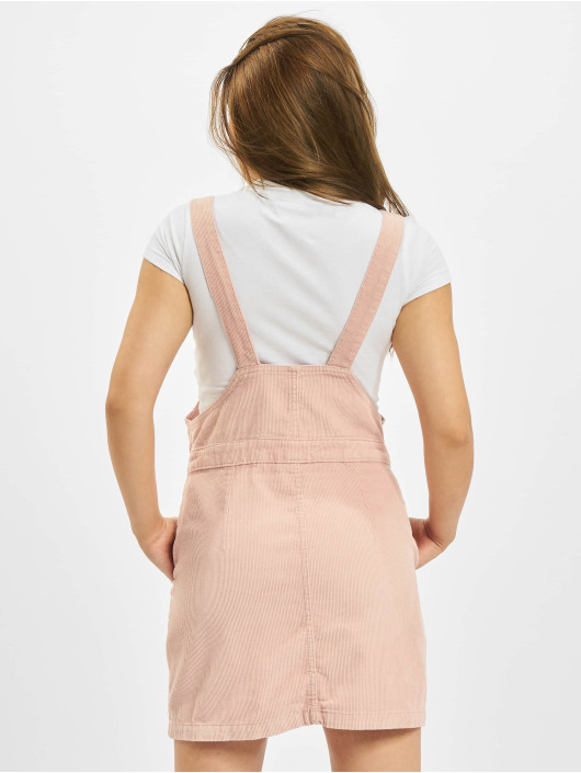 Urban Classics Kleid Corduroy Dungaree rosa