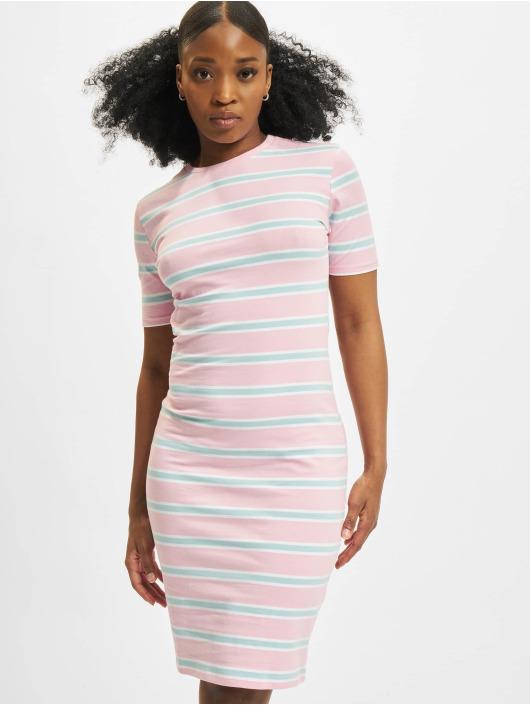 Urban Classics Kleid Stretch Stripe rosa