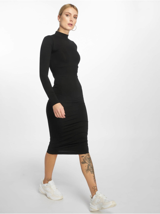 Urban Classics Kleid Ladies Turtleneck schwarz