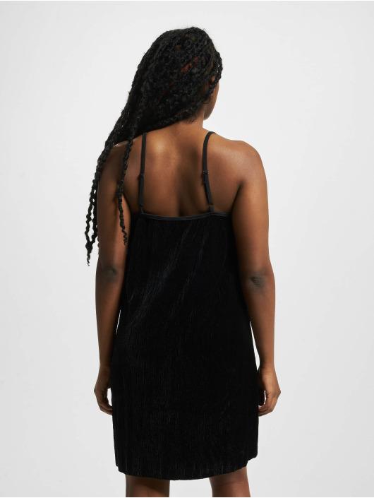Urban Classics Kleid Velvet schwarz