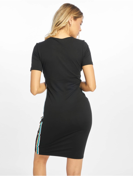 Urban Classics Kleid Multicolor Side Taped schwarz