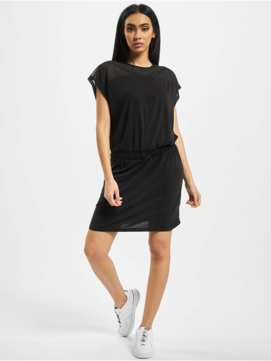 Urban Classics Kleid Ladies Tech Mesh schwarz
