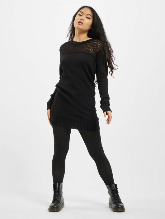 Urban Classics Kleid Ladies Light Knit schwarz