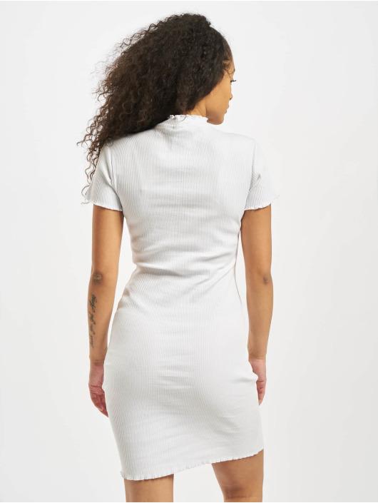 Urban Classics Kleid Rib weiß