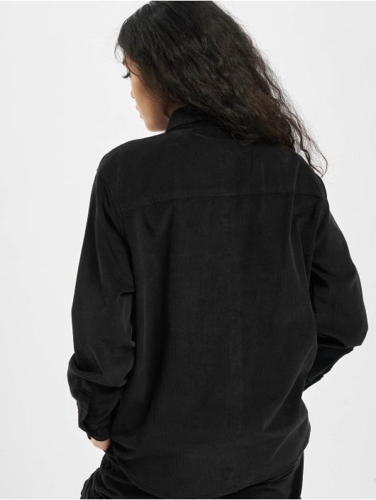 Urban Classics Košele Ladies Corduroy Oversized èierna