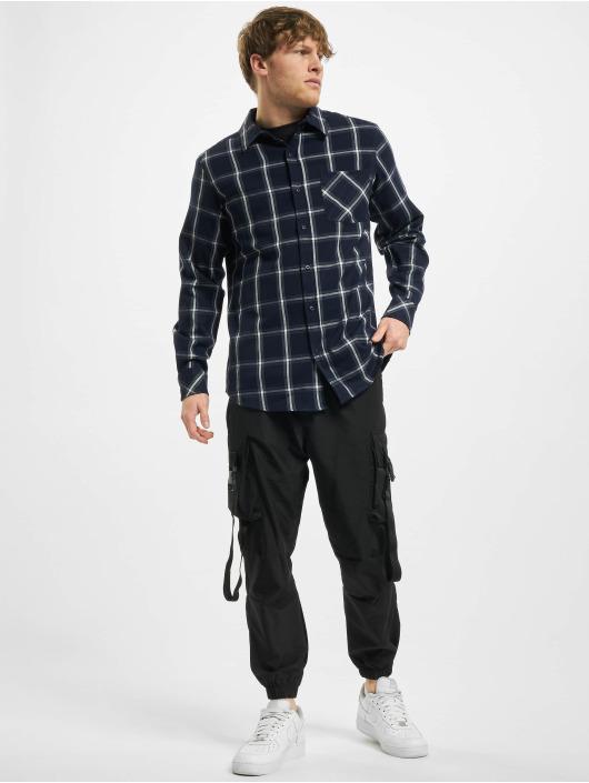 Urban Classics Košile Basic Check modrý