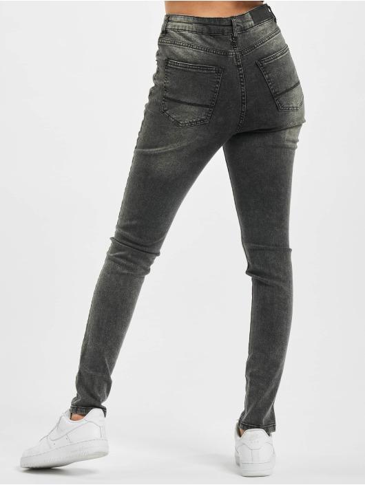 Urban Classics Korkeavyötäröiset farkut Ladies High Waist musta