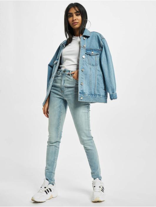 Urban Classics Korkeavyötäröiset farkut Ladies High Waist sininen