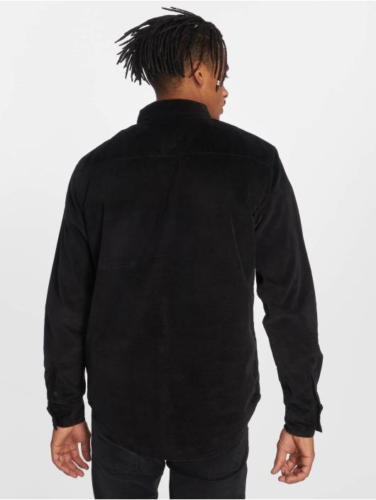 Urban Classics Koszule Corduroy czarny