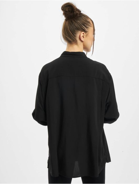 Urban Classics Koszule Viscose Oversize czarny