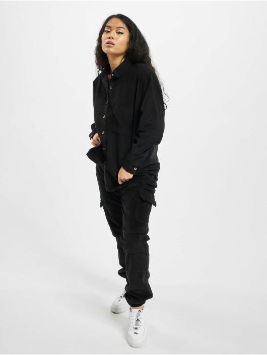 Urban Classics Koszule Ladies Corduroy Oversized czarny