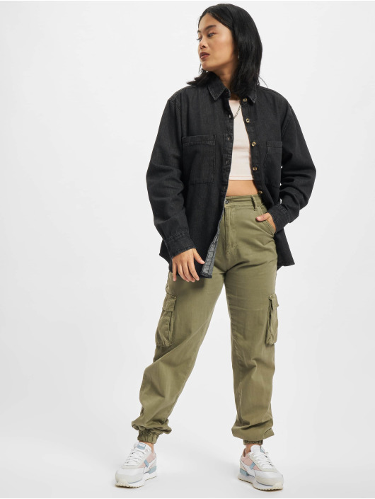 Urban Classics Koszule Oversized Blouse czarny