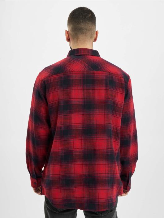 Urban Classics Koszule Oversized Checked Grunge czerwony