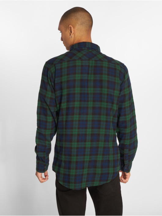 Urban Classics Koszule Checked Flanell 3 niebieski