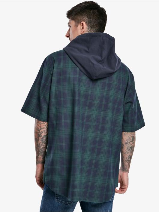 Urban Classics Koszule Hooded Short Sleeve niebieski