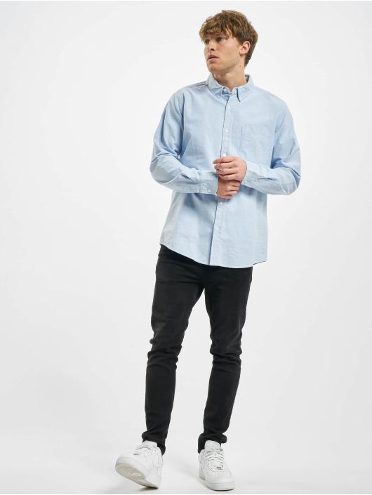 Urban Classics Koszule Basic Oxford niebieski