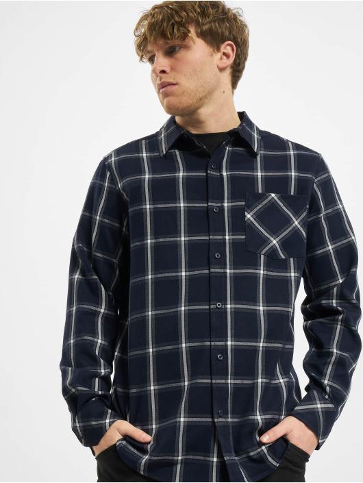 Urban Classics Koszule Basic Check niebieski