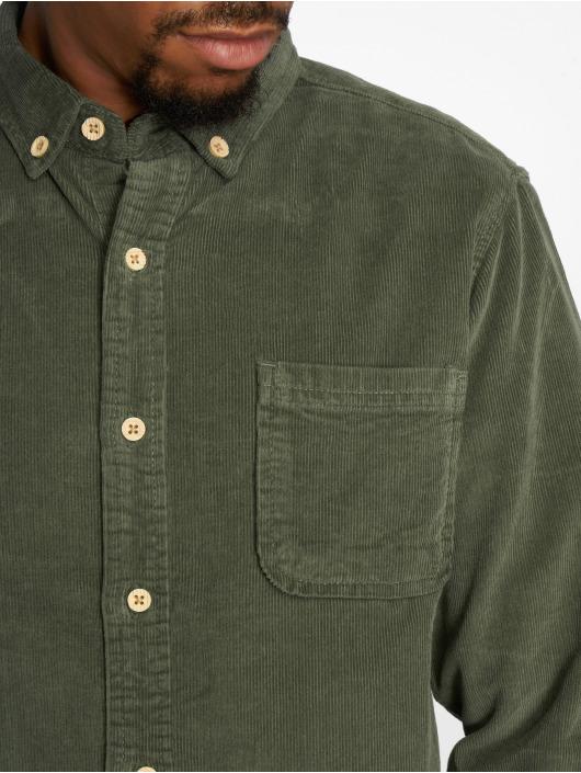 Urban Classics Koszule Corduroy oliwkowy