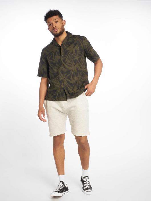 Urban Classics Koszule Pattern Resort oliwkowy
