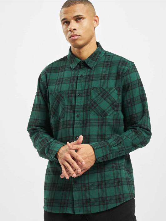 Urban Classics Koszule Checked 7 Flanell zielony