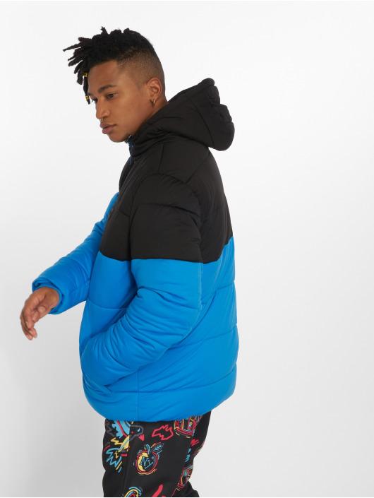 Urban Classics Kurtki pikowane Hooded 2-Tone niebieski