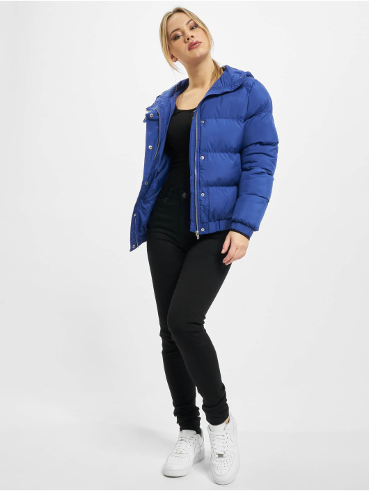 Urban Classics Kurtki pikowane Ladies Hooded niebieski