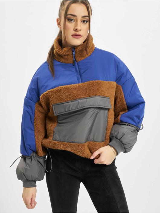 Urban Classics Kurtki przejściowe Ladies Sherpa 3-Tone Pull Over brazowy