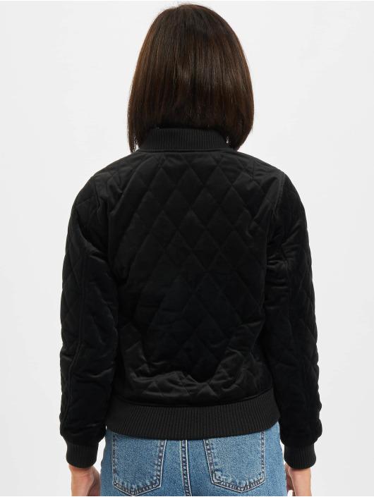 Urban Classics Kurtki przejściowe Diamond Quilt czarny