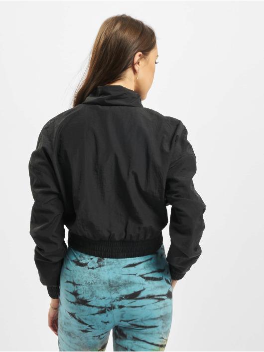 Urban Classics Kurtki przejściowe Cropped Crinkle Nylon Pull Over czarny