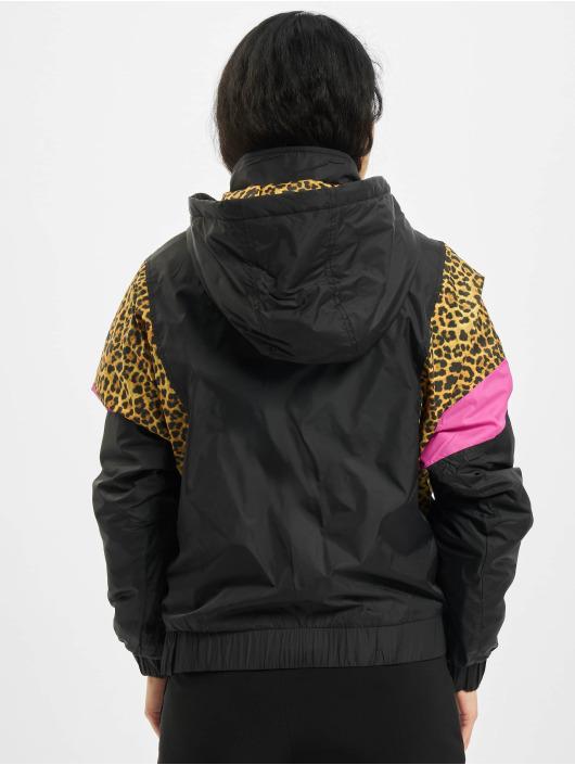 Urban Classics Kurtki przejściowe Ladies AOP Mixed Pull Over czarny