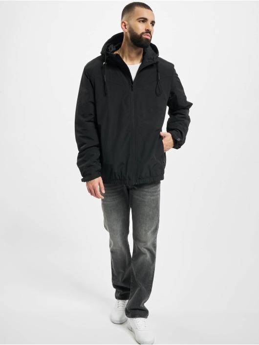 Urban Classics Kurtki przejściowe Hooded Easy czarny