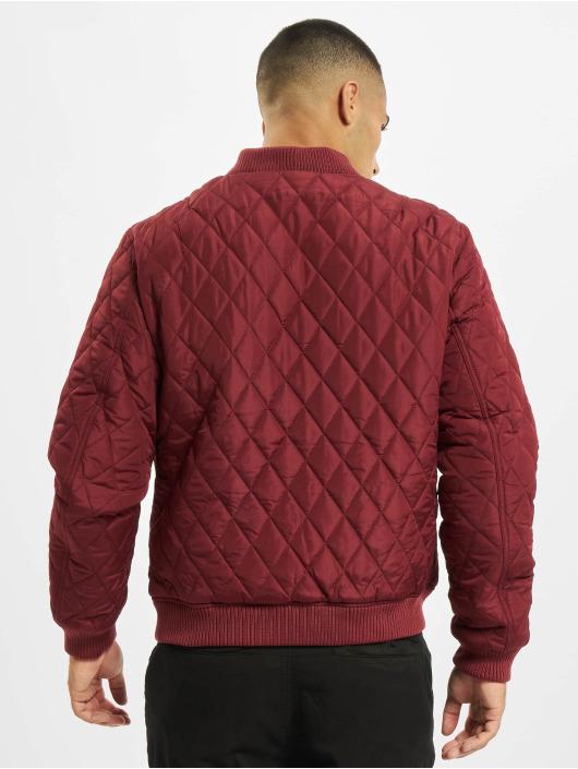 Urban Classics Kurtki przejściowe Diamond Quilt Nylon czerwony