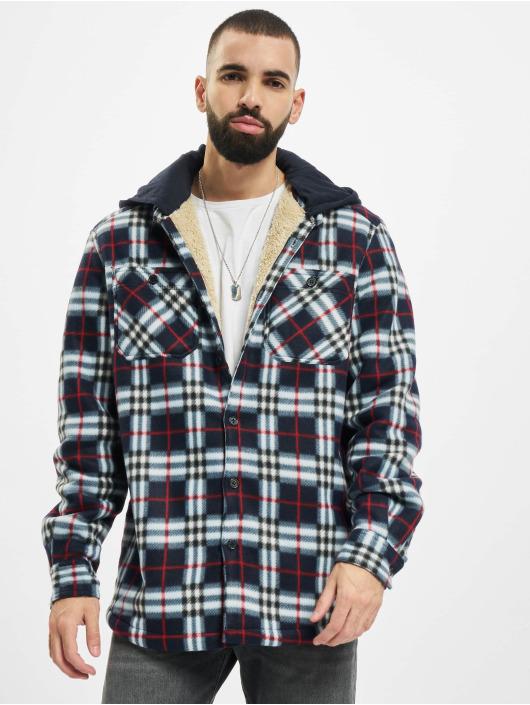 Urban Classics Kurtki przejściowe Hooded Polar Fleece Overshirt niebieski