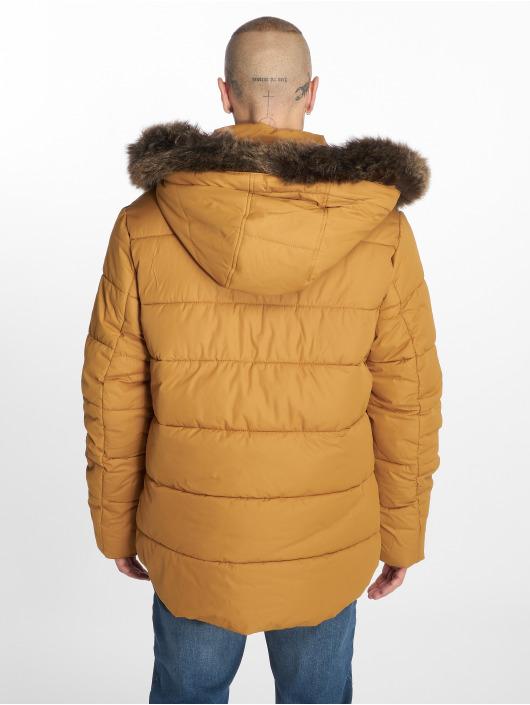 Urban Classics Kurtki zimowe Faux Fur brazowy