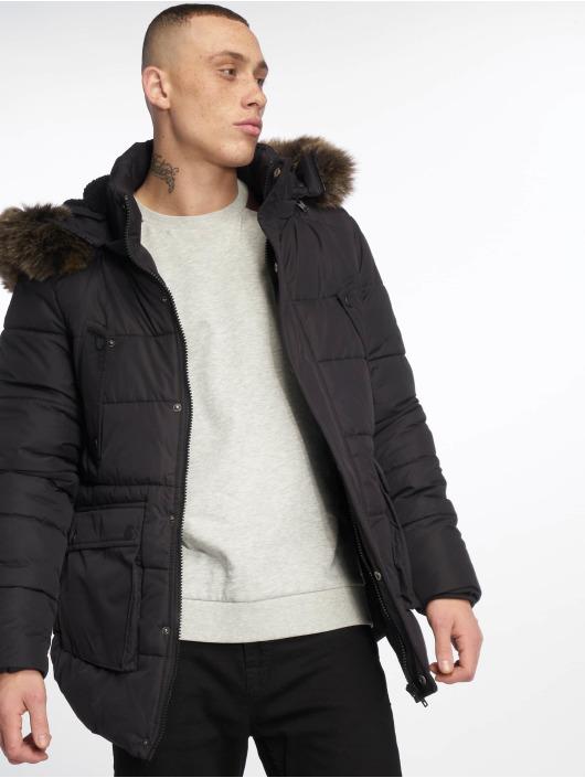 Urban Classics Kurtki zimowe Faux Fur czarny