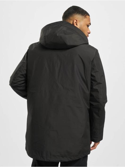 Urban Classics Kurtki zimowe Hooded Long czarny