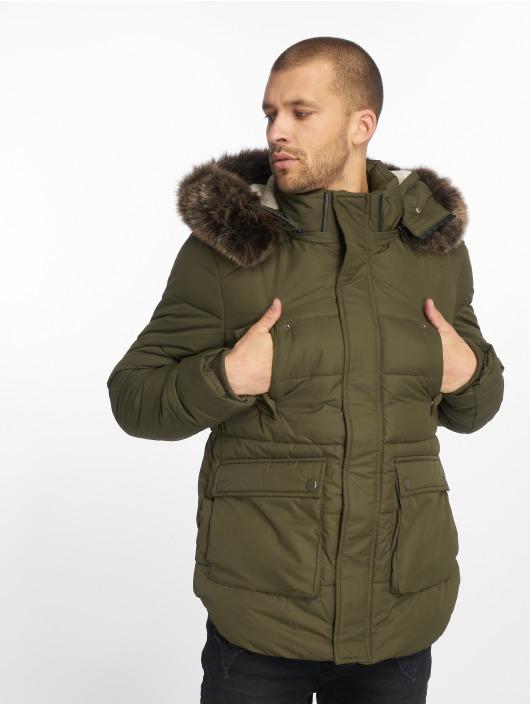 Urban Classics Kurtki zimowe Faux Fur oliwkowy