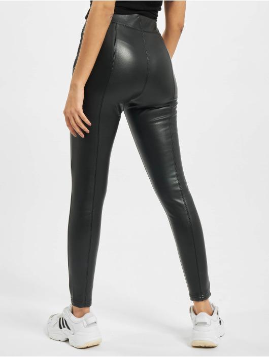 Urban Classics Látkové kalhoty Ladies Faux čern