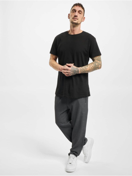 Urban Classics Látkové kalhoty Comfort Cropped šedá