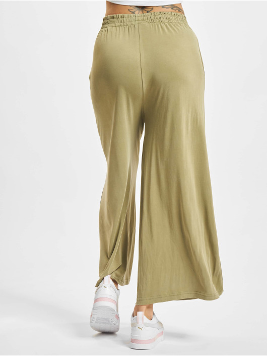 Urban Classics Látkové kalhoty Ladies Modal hnědožlutý