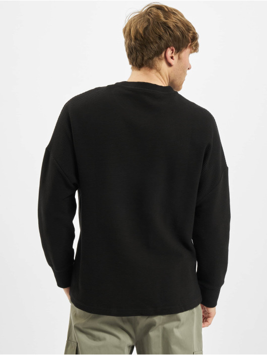 Urban Classics Långärmat Cut On Sleeve Naps Interlock svart
